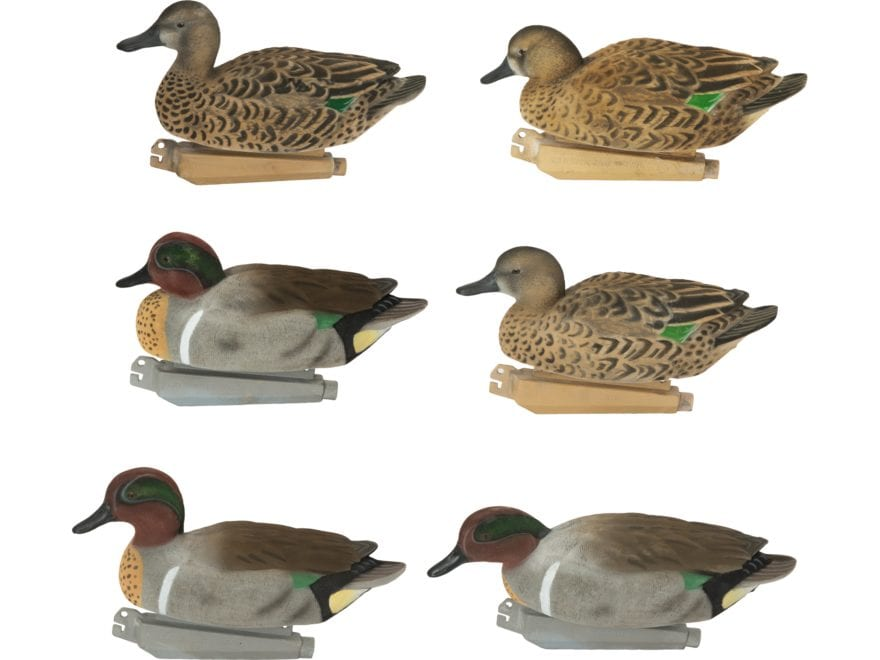 GHG FFD Pro-Grade Elite Green Wing Teal Duck Decoy Pack of 6