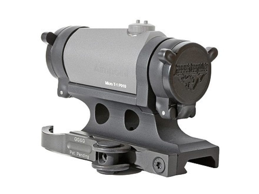 GG&G Accucam Quick-Detach Aimpoint Micro T-1, T-2, H-1 Sight Mount with Integral Flip-U...