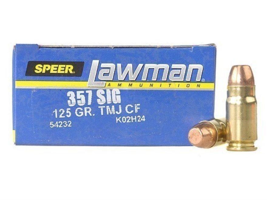 Speer Lawman Cleanfire Ammunition 357 Sig 125 Grain Total Metal Jacket