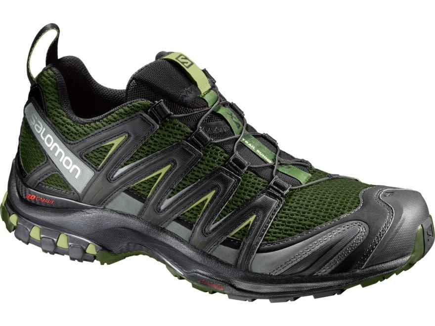 "Salomon XA Pro 3D 4"" Trail Running Shoes Synthetic Chive/Black/Beluga Men's"