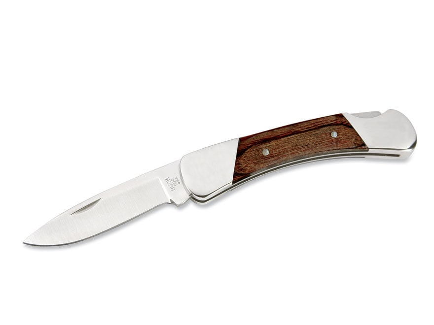 "Buck 500 Duke Folding Knife 3"" Drop Point 420HC Stainless Steel Blade Rosewood Handle"