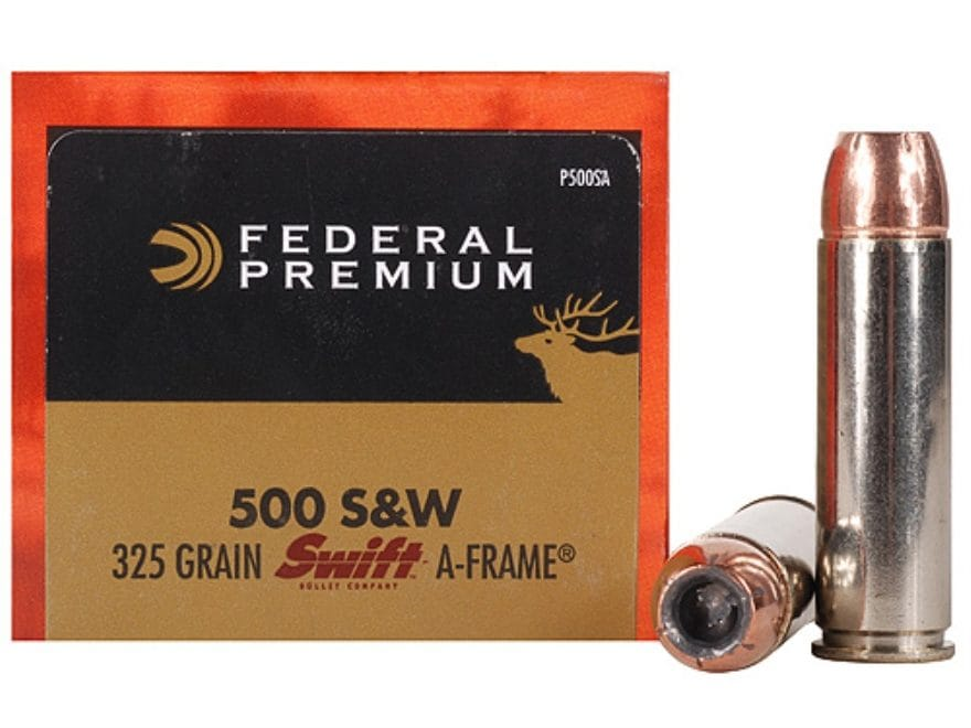 Federal Premium Vital-Shok Ammunition 500 S&W Magnum 325 Grain Swift A-Frame Jacketed H...
