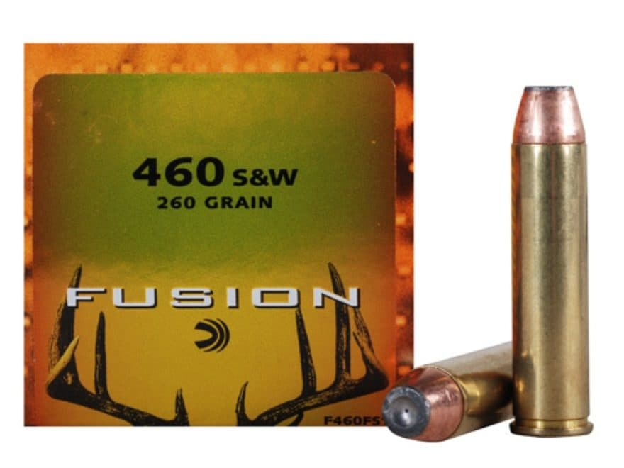 Federal Fusion Ammunition 460 S&W Magnum 260 Grain Jacketed Hollow Point Box of 20