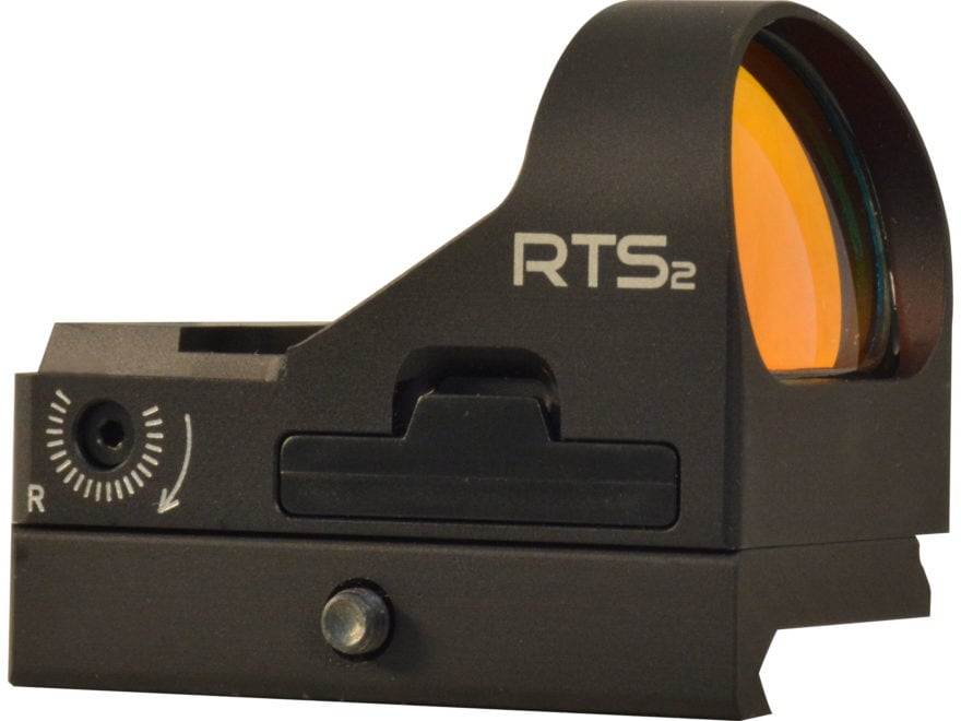 C-More RTS2R Reflex Sight Red Dot with Click Switch and Integral Picatinny Mount Alumin...