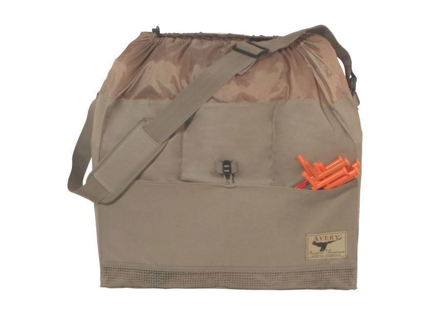 Avery Full Body Honker Goose Decoy Bag 6 Slot Nylon Field Khaki