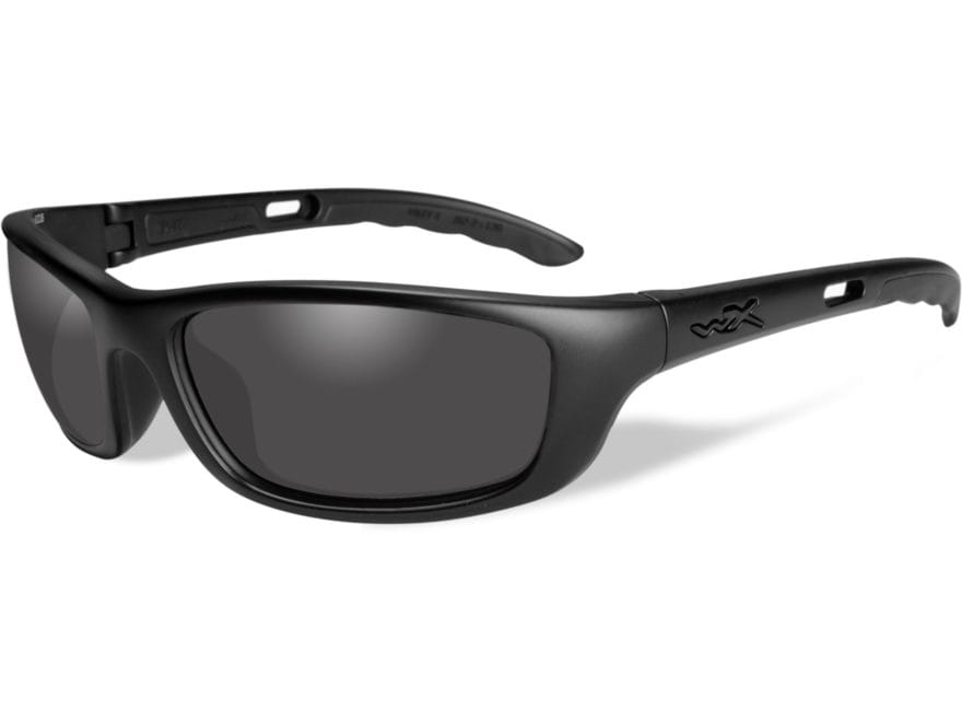 177ced1c20c7 Wiley X Black Ops P-17 Sunglasses Matte Black Frame Smoke Gray Lens
