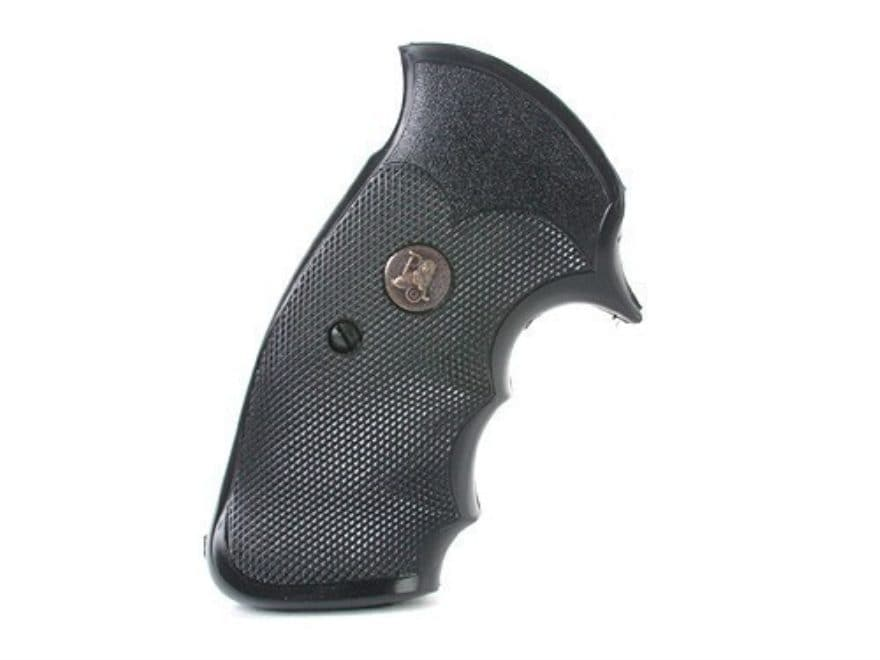 Pachmayr Gripper Professional Grips Su0026W K, L Frame Square Butt Rubber Black