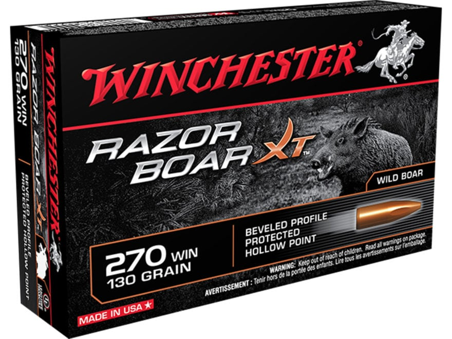 Winchester Razor Boar XT Ammunition 270 Winchester 130 Grain Hollow Point Lead-Free