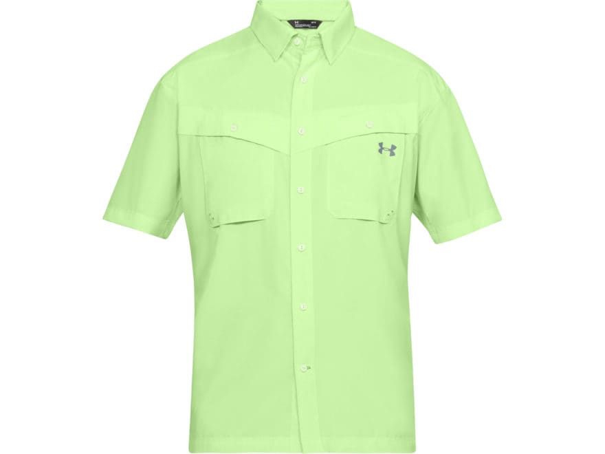 Under Armour Men's UA Tide Chaser Button-Up Shirt Short Sleeve Polyester