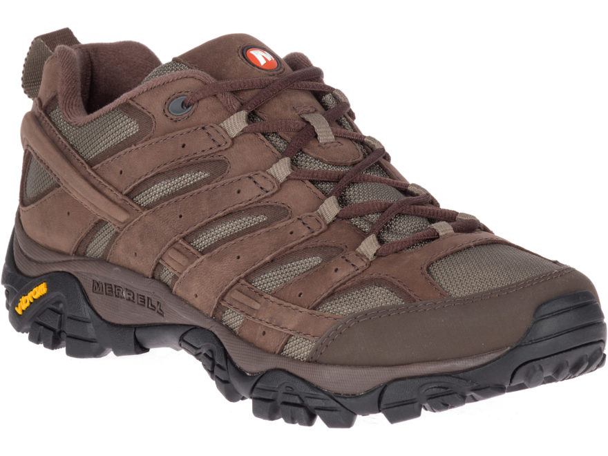 """Merrell Moab 2 Smooth 4"""" Hiking Shoes Leather/Nylon Men's"""