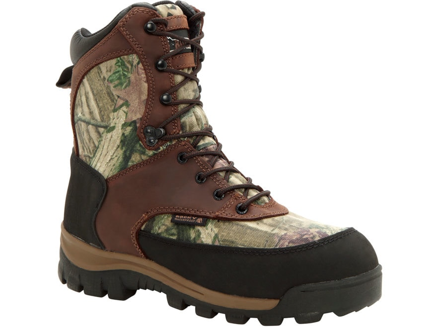 """Rocky Core Hiker 8"""" Waterproof 800 Gram Insulated Hunting Boots Leather/Nylon"""