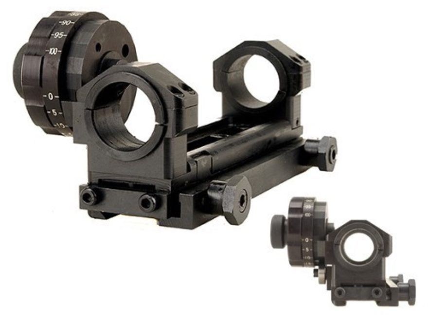 Leatherwood Hi-Lux 3D Picatinny-Style Mount with 100 MOA Vertical Adjustment and Gross ...