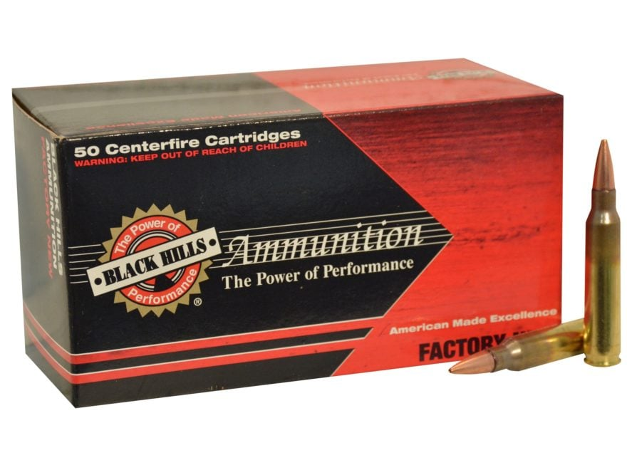 Black Hills Ammunition 5.56x45mm NATO 70 Grain Hornady GMX Hollow Point Boat Tail Lead-...