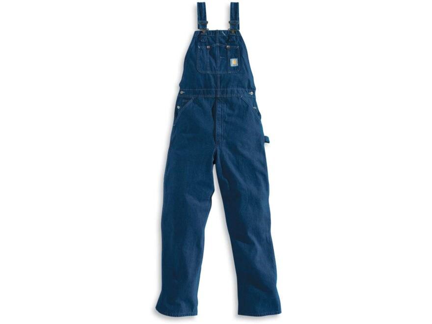 Carhartt Men's Washed Denim Bib Overalls Unlined Cotton