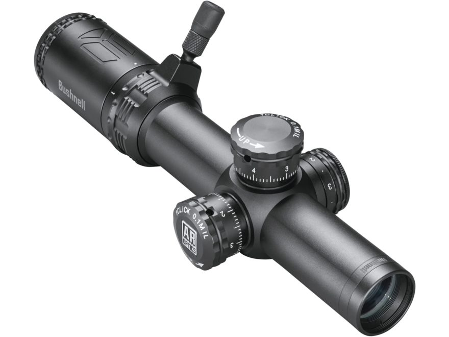 Bushnell AR Optics Rifle Scope 30mm Tube 1-4x 24mm 1/10 Mil Adjustments First Focal Ill...