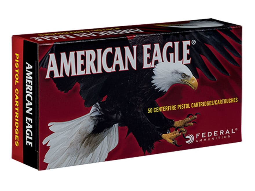 Federal American Eagle Ammunition 9mm Luger 115 Grain Full Metal Jacket