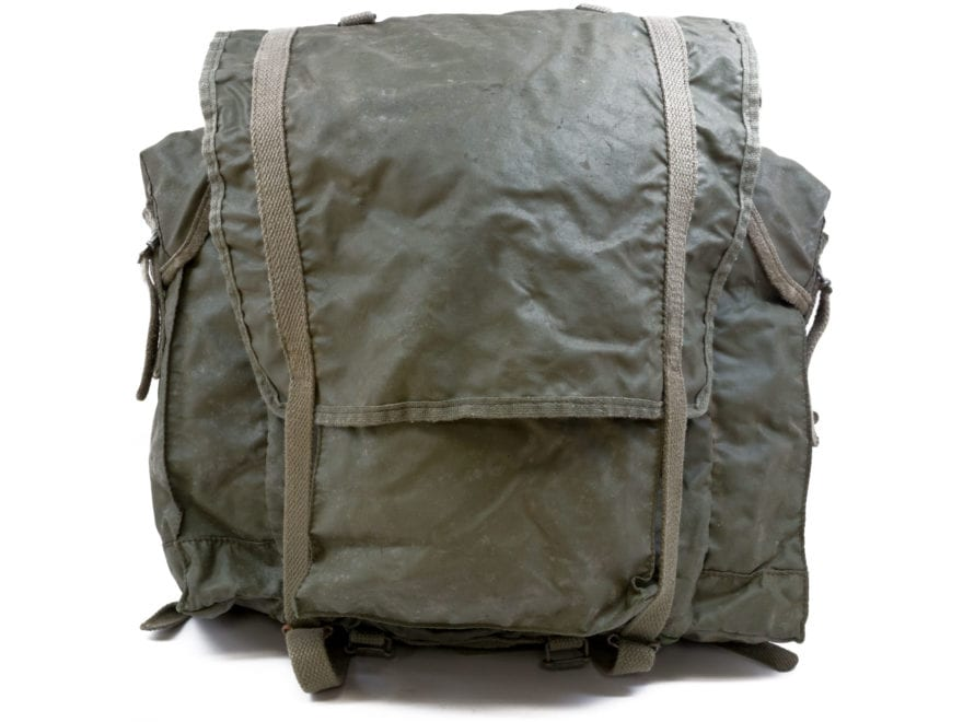 Military Surplus French F1 Backpack Grade 2 Olive Drab Small