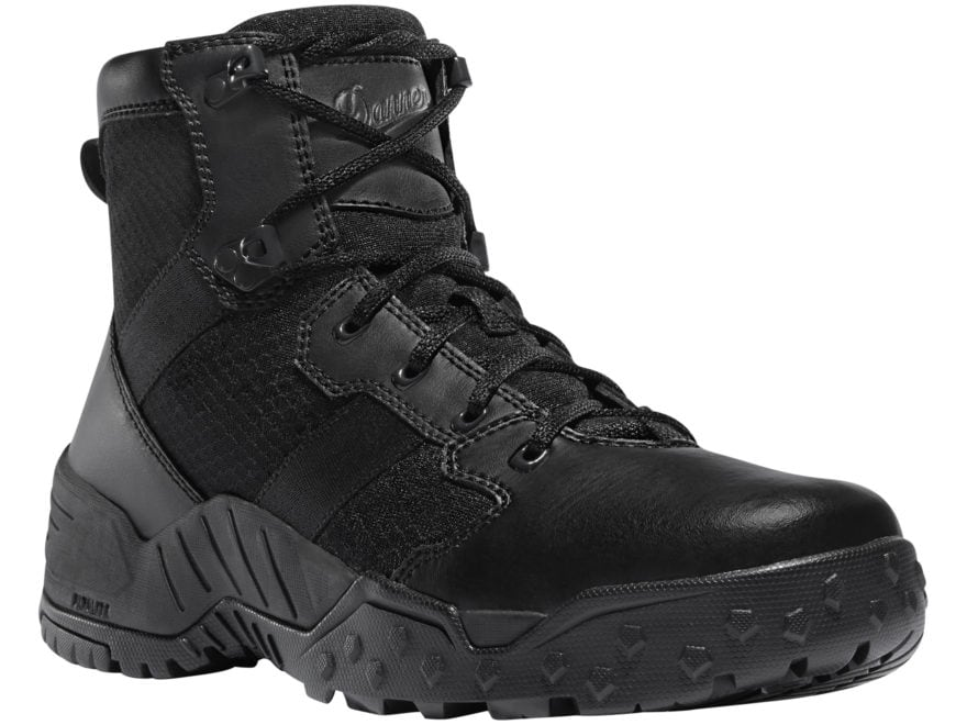 "Danner Scorch 6"" Side-Zip Tactical Boots Leather/Nylon Black Men's"