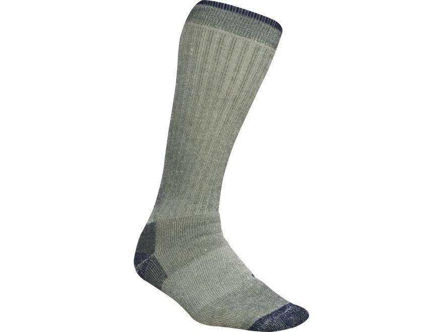 MidwayUSA Merino Wool Blend Tall Boot Socks 2 Pairs Gray/Blue Large (9-13)