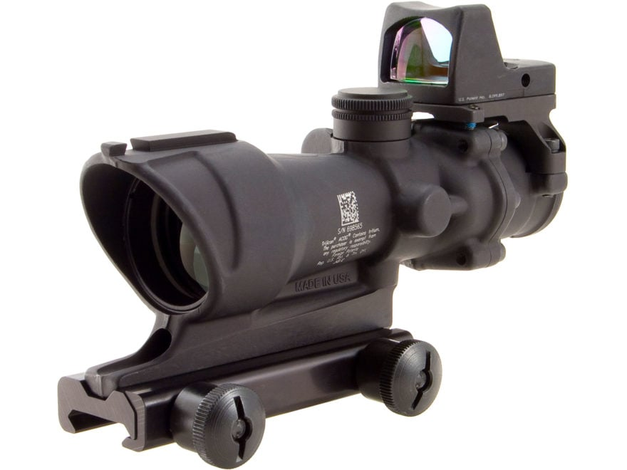 Trijicon ACOG Rifle Scope 4x 32mm Tritium Illuminated Amber Crosshair 223 Remington Ret...