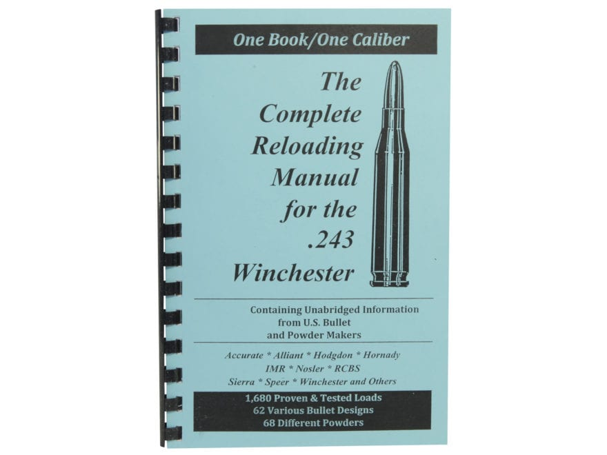 "Loadbooks USA ""243 Winchester"" Reloading Manual"