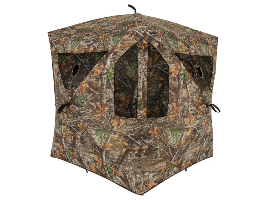 "Ameristep Brickhouse Ground Blind 67"" x 59"" x 59"" Polyester Realtree Edge Camo"