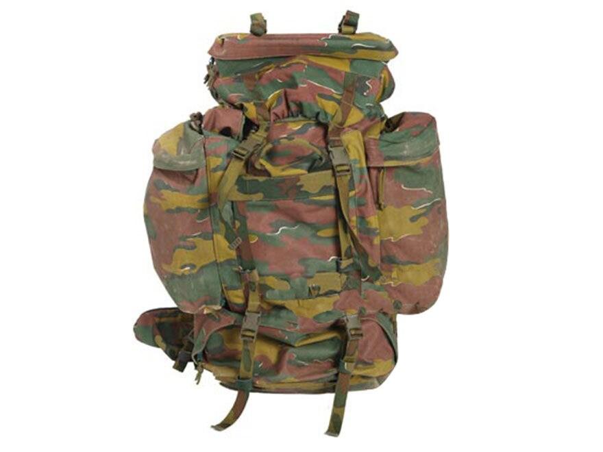 Military Surplus Belgian M97 Camo Rucksack