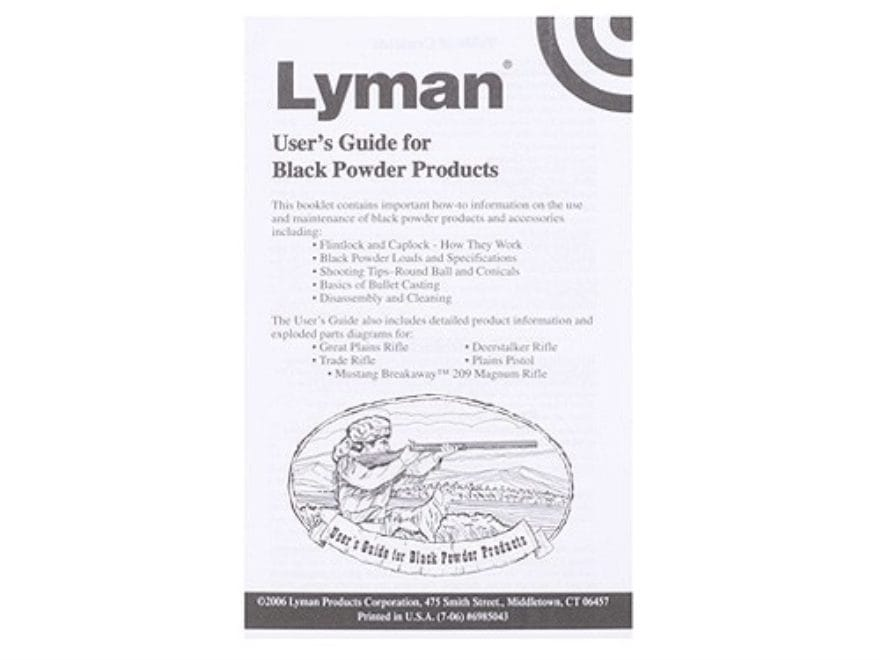 """Black Powder Users Guide"" Book by Lyman"