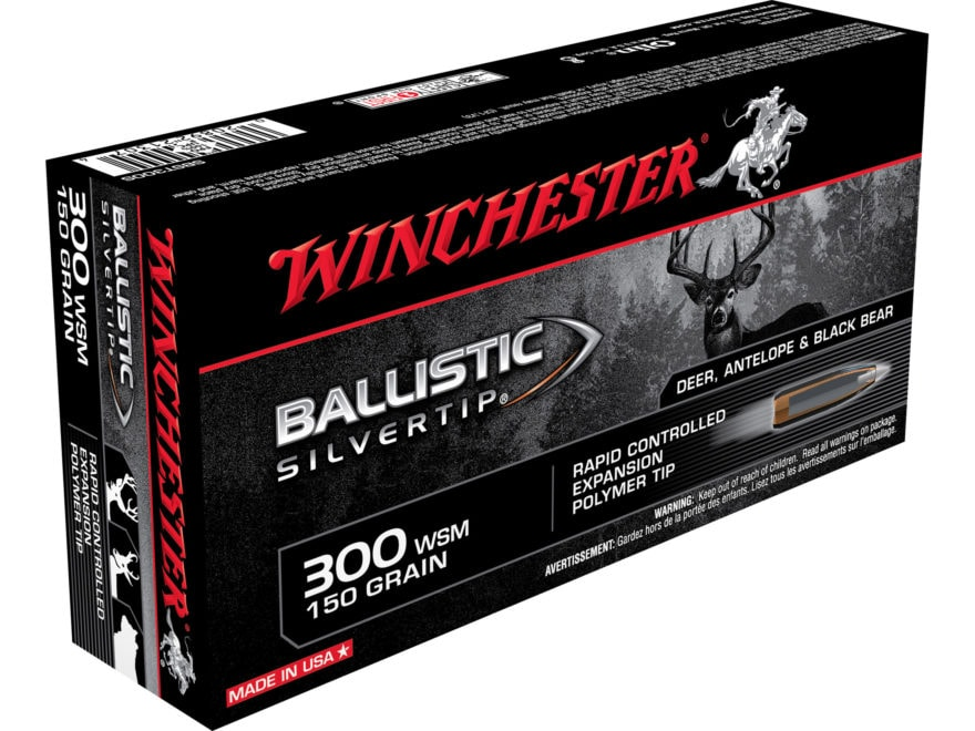Winchester Ballistic Silvertip Ammunition 300 Winchester Short Magnum (WSM) 150 Grain R...
