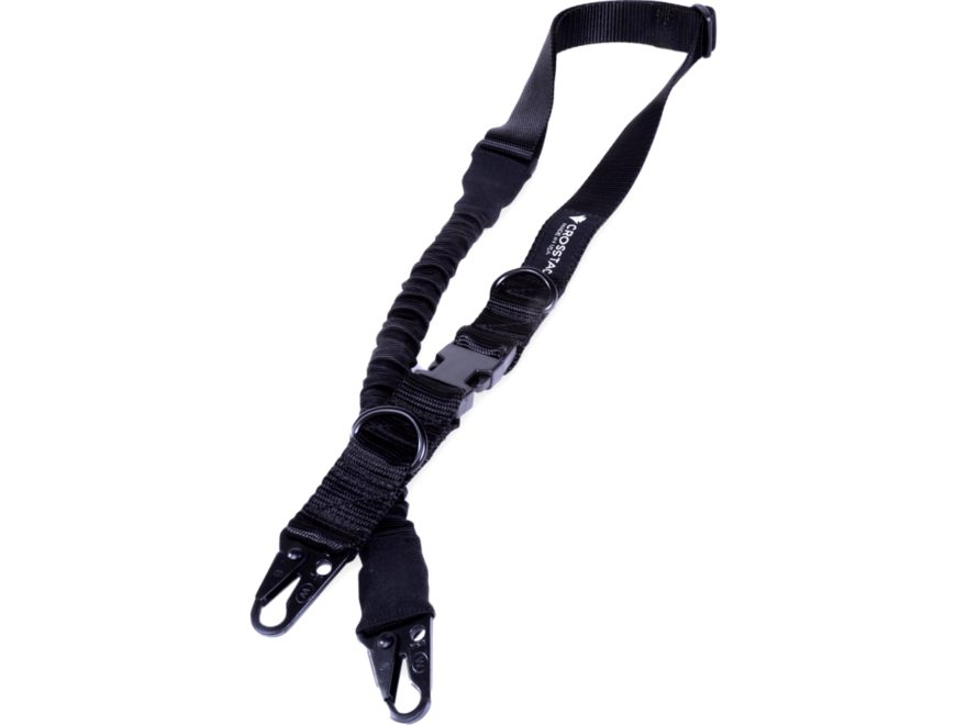 4ff7f9b6704 CrossTac Tactical Single Double Point Sling Nylon Bungee Black