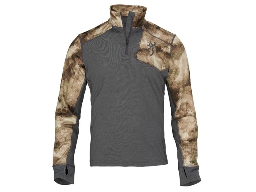 Browning Men's Hell's Canyon Speed MHS-FM Base Layer 1/4 Zip Shirt Long Sleeve Merino W...