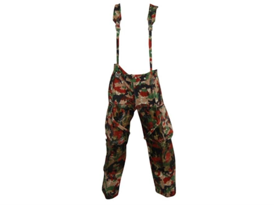 Military Surplus Swiss M70 Field Pants with Suspenders Swiss Camo