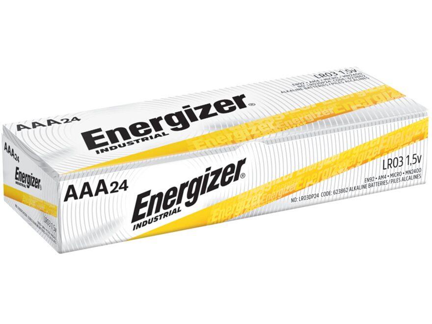 Energizer Battery AAA Industrial EN92 1.5 Volt Alkaline Pack of 24