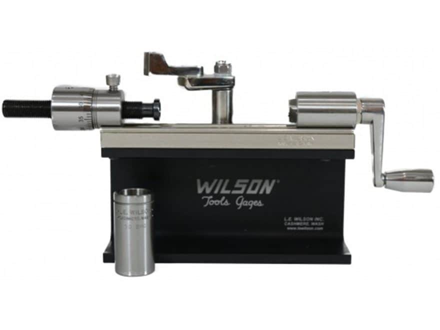 L.E. Wilson Micrometer Case Trimmer Kit with Stop Adjustment Stainless Steel 50 BMG