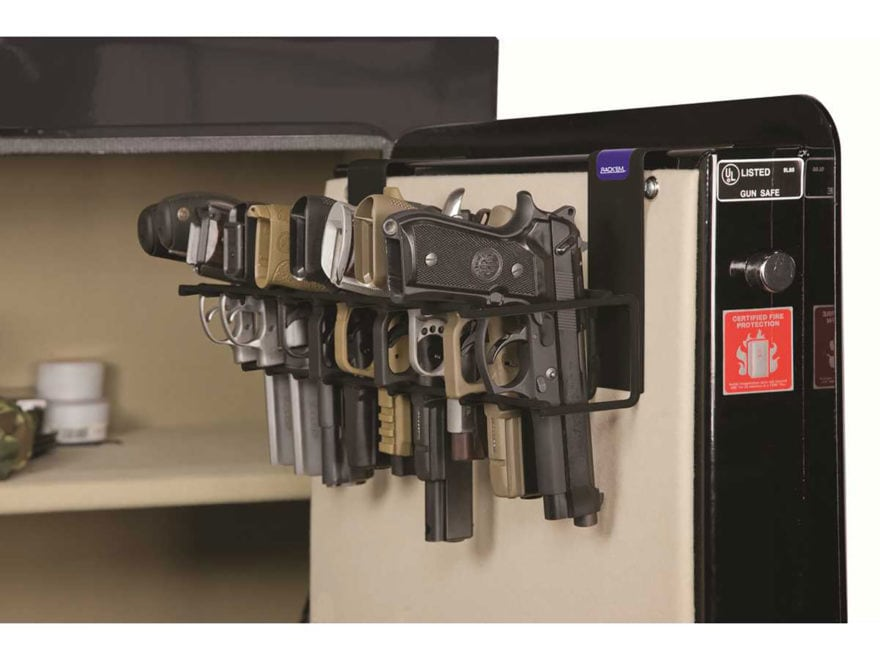 Rack'Em Racks The Holster Safe Door Pistol Rack Black