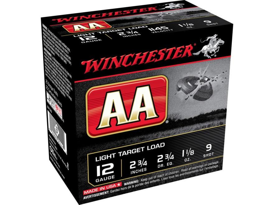 """Winchester AA Light Target Ammunition 12 Gauge 2-3/4"""" 1-1/8 oz"""
