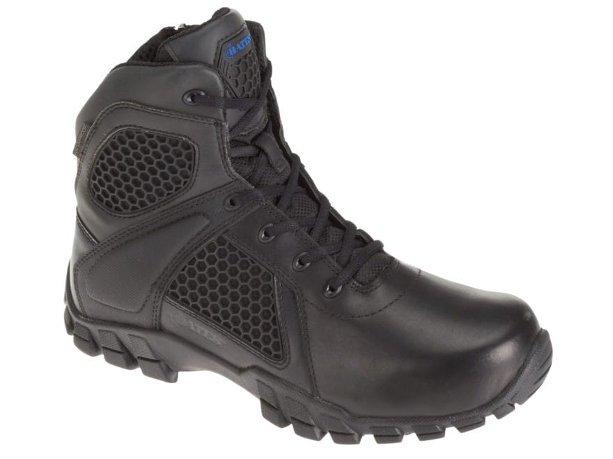 "Bates Shock 6"" Side-Zip Tactical Boots Leather/Nylon Men's"