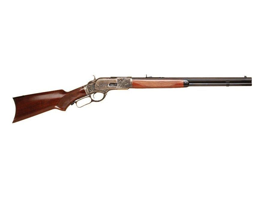 """Cimarron 1873 Short Rifle 357 Magnum 20"""" Octagon Barrel Color Case Hardened, Blue, Waln..."""