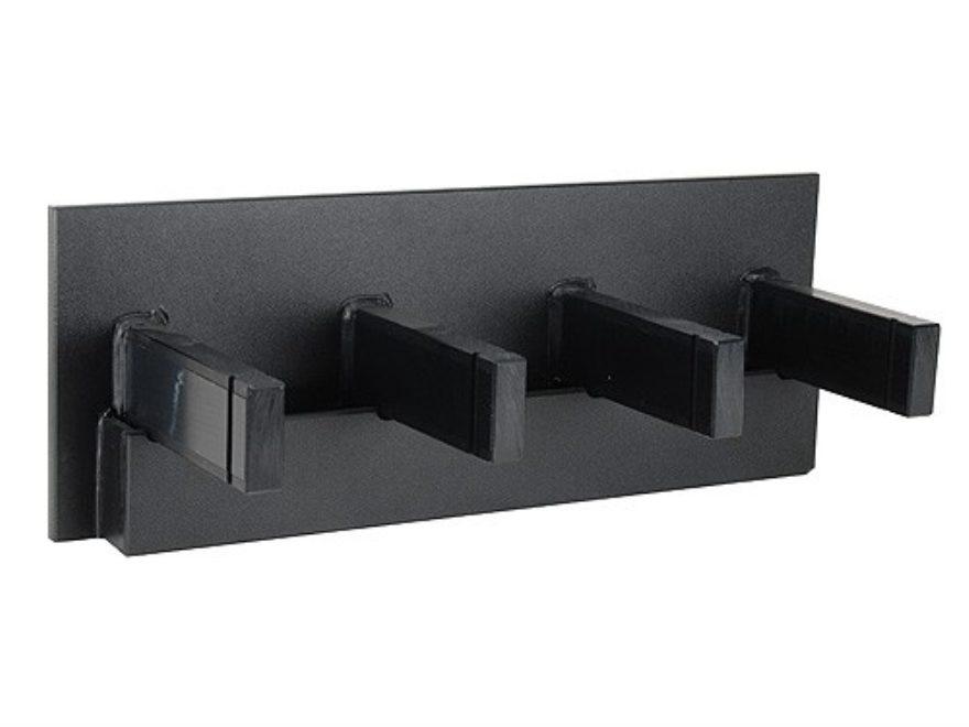 Superbe Plastix Plus AR 15 4 Gun Vertical Wall Mount With Magazine Storage Plastic  Black