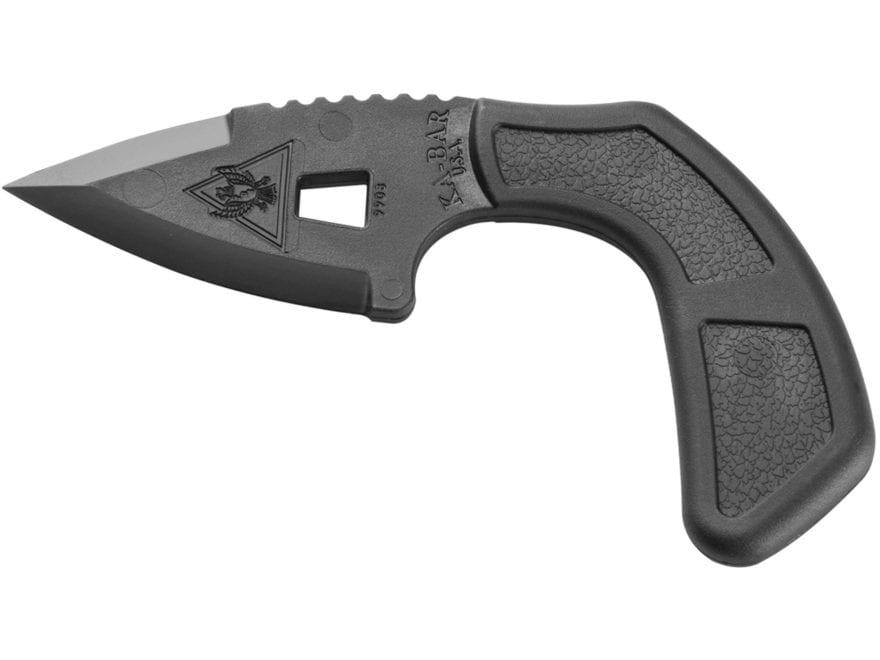 "KA-BAR TDI Shark Bite Fixed Blade Knife 2.625"" Spear Point Ultramid Blade and Handle Black"