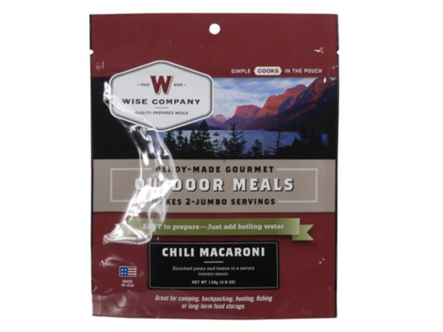 Wise Company Chili Macaroni with Beef Freeze Dried Meal 5.8 oz