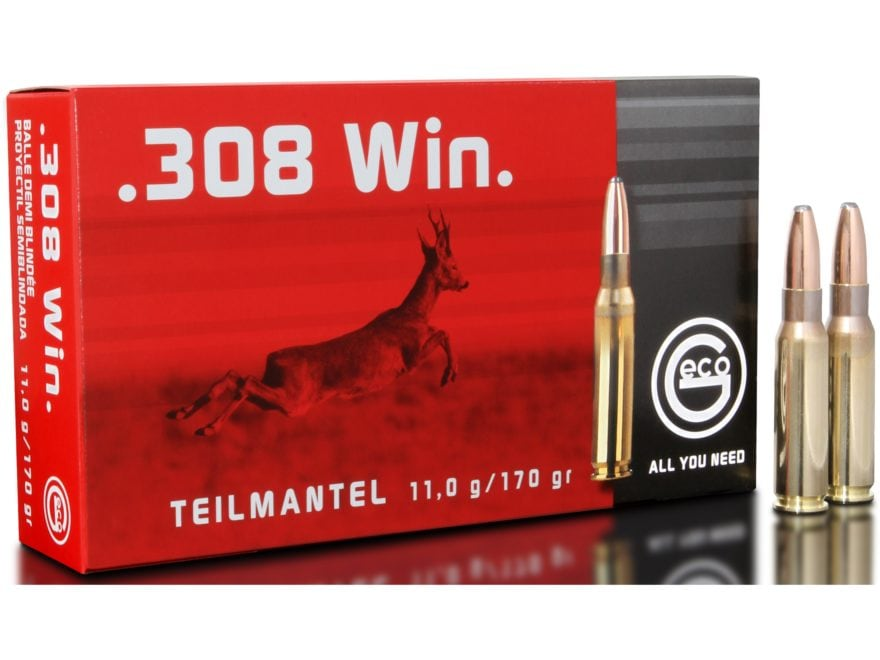 Geco Ammunition 308 Winchester 170 Grain Soft Point Box of 20