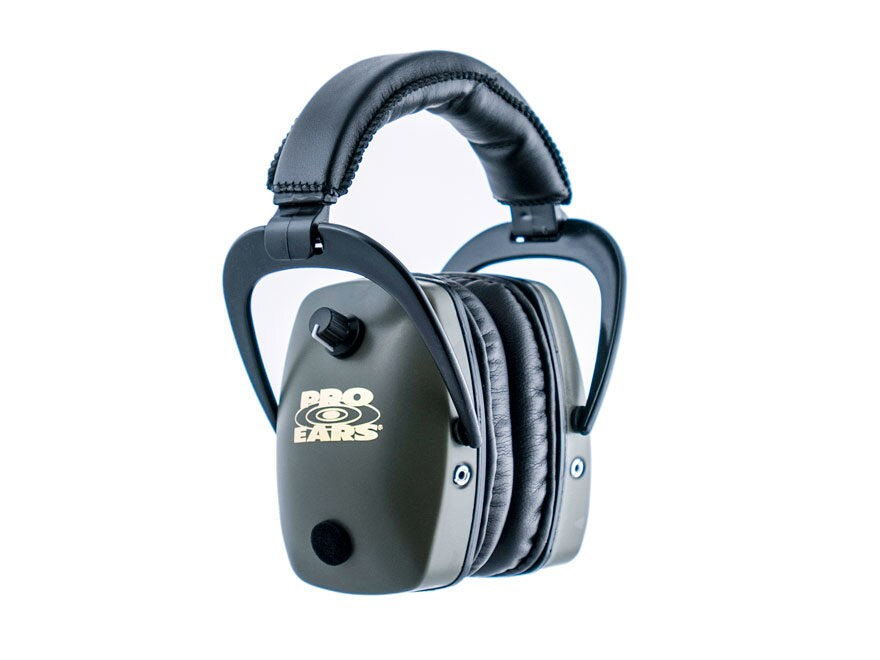 Pro Ears ProSlim Gold Electronic Earmuffs (NRR 28 dB)