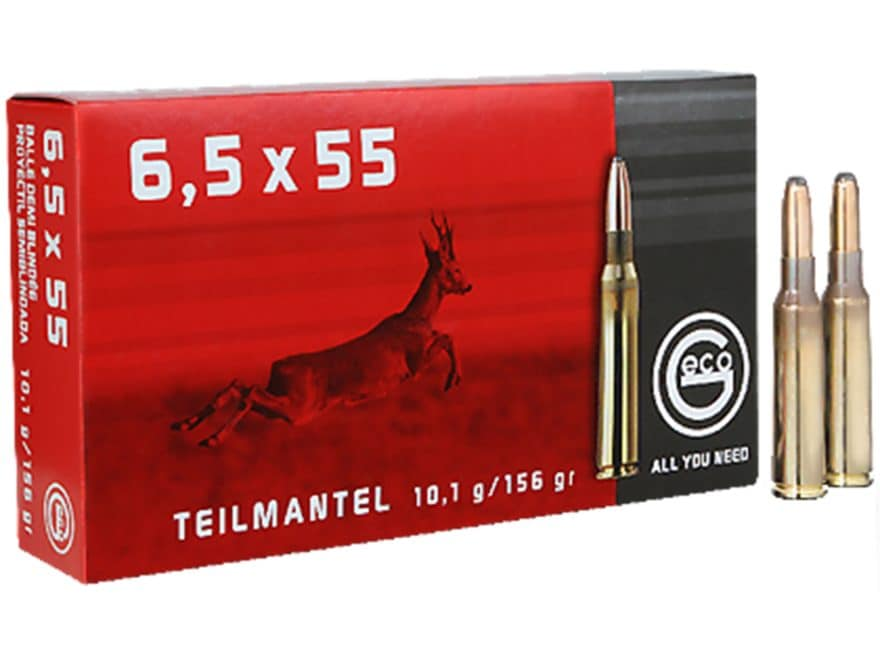 Geco Ammunition 6.5x55mm Swedish Mauser 156 Grain Soft Point Box of 20