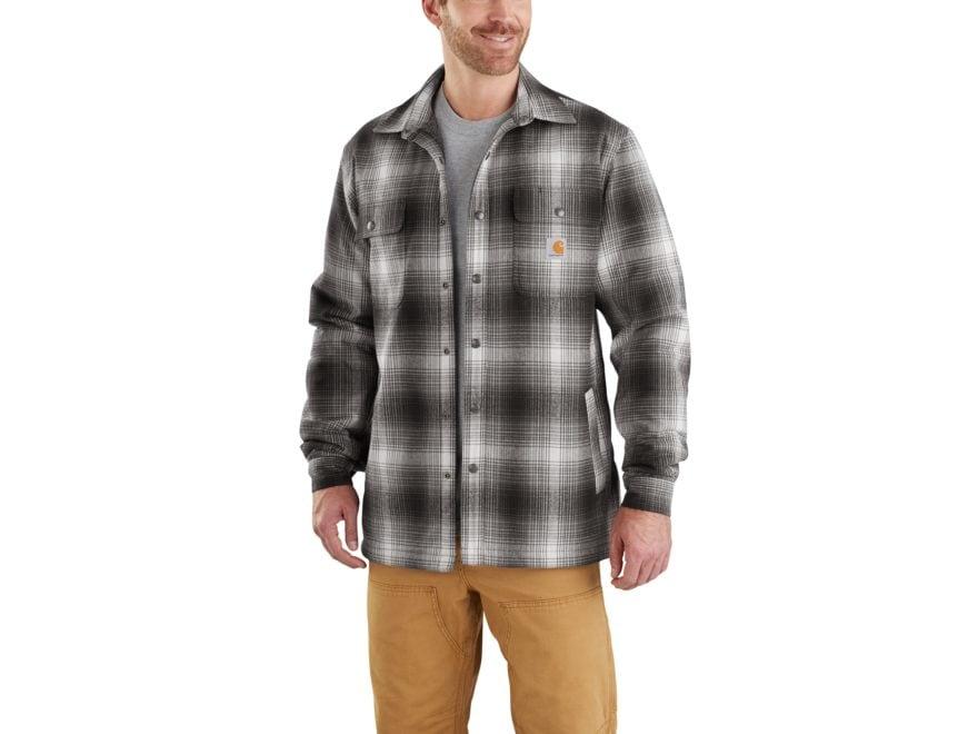 Carhartt Men's Hubbard Sherpa-Lined Flannel Shirt Jac Cotton