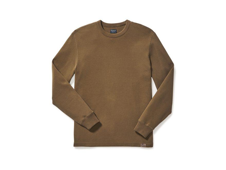 Filson Men's Waffle Knit Thermal Crew Shirt Long Sleeve Cotton