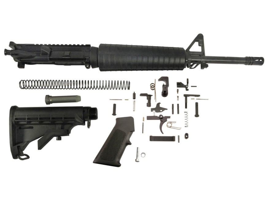 "Del-Ton AR-15 Mid-Length Carbine Kit 5.56x45mm NATO 1 in 7"" Twist 16"" Chrome Lined Heav..."