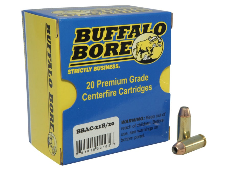 Buffalo Bore Ammunition 10mm Auto 180 Grain Jacketed Hollow Point Box of 20