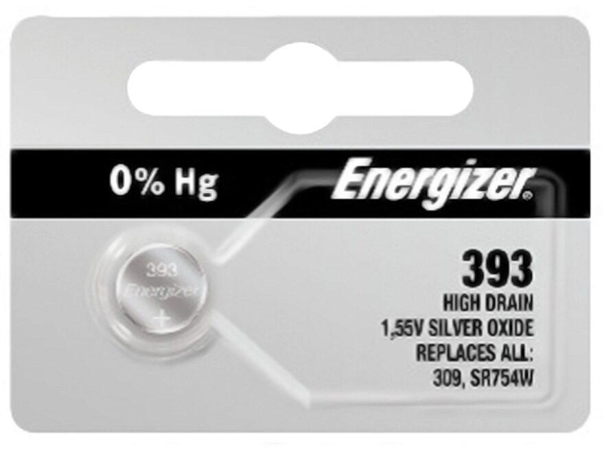 Energizer Battery 393 1.5 Volt Silver Oxide