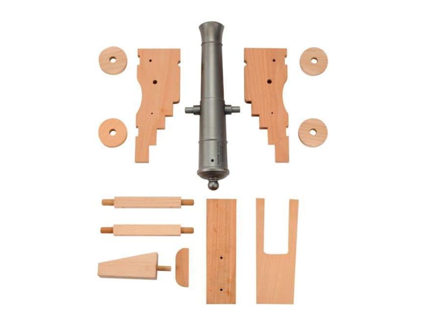 "Traditions Old Ironsides Black Powder Cannon Kit 69 Caliber 12.5"" Steel Barrel Hardwood..."
